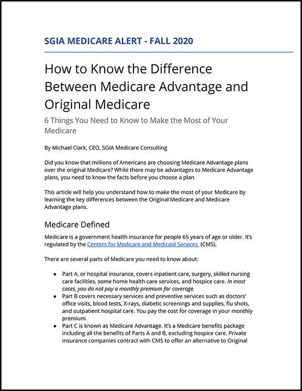 SGIA Medicare Alert - Fall 2020